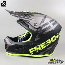 Helmet cross Freegun XP4 Outlaw gray and neon yellow size XL