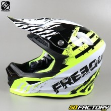 Casco cross Freegun XP4 Outlaw amarillo fluorescente