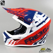 Casco cross Freegun XP4 Outlaw azul y rojo