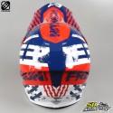 Helm cross Freegun XP4 Outlaw blaue und rote Größe XL