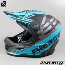 Casco cross Freegun XP4 Outlaw gris y azul