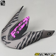Visera de casco cross Freegun XP4 Outlaw gris y rosa neón