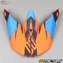 Visière pour casque cross Shot Furious Ultimate bleu et orange fluo