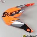 Visière pour casque cross Shot Furious Ultimate noir et orange fluo