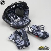 Intérieur de casque cross Freegun XP4 noir et blanc taille S