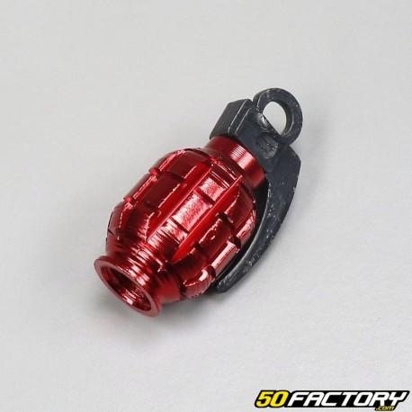 Dolity 2pcs Bouchons de Valve Grenade Anti-poussi/ère de Voiture Moto V/élo