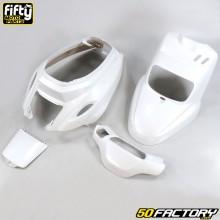 Kit carénages FIFTY blanc nacré MBK Booster, Yamaha Bw's depuis 2004