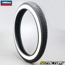 2 1 / 4-16 Tyre Mitas B8 white sidewalls moped