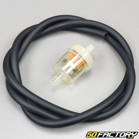 Kit durite essence noir 6x9mm avec filtre