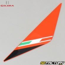 Left original headlight plate sticker Gilera SMT  et  RCR (2011 to 2017) red