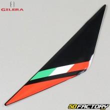 Left original headlight plate sticker Gilera SMT  et  RCR (2011 to 2017) red and black