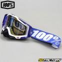 Masque 100% Racecraft Cobalt bleu écran miroir bleu