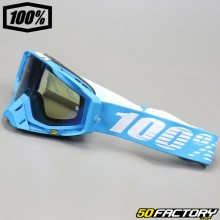 Masque 100% Racecraft Monoblock bleu écran miroir bleu