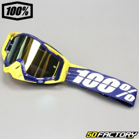 Masque 100% Racecraft Bibal Navy écran miroir or