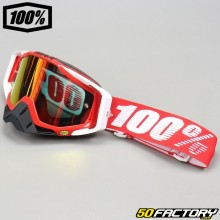 Masque 100% Racecraft Fire rouge écran miroir rouge