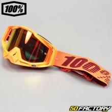 Masque 100% Racecraft Menlo orange écran miroir orange