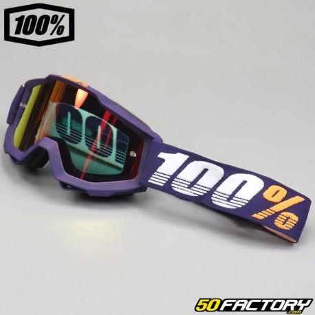 Masque 100% Accuri Grib violet écran miroir rouge