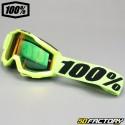 Masque 100% Accuri jaune fluo écran miroir rouge