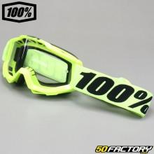 Masque 100% Accuri OTG jaune fluo écran clair