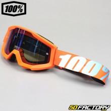 Masque 100% Strata orange écran miroir bleu