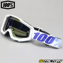 Masque 100% Strata Equinox blanc écran miroir bleu