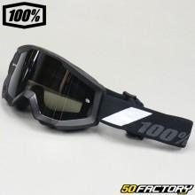 Gafas 100% Strata Goliath negra pantalla de espejo plateada