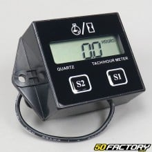 Hour speedometer and universal odometer