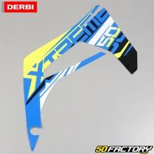 Derbi original right front sticker Senda Xtreme (from 2018) blue