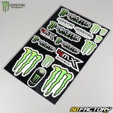 Monster MX set of stickers 30x45cm