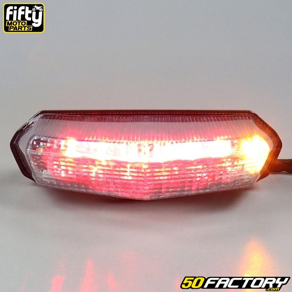 TABEN Clignotants LED universels pour Moto Harley Cruiser Honda Kawasaki BMW Yamaha Suzuki Blanc pour feu Clignotant, Ambre pour Clignotant