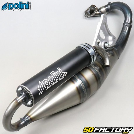 Exhaust Polini scooter team 4 Minarelli horizontal MBK Nitro, Ovetto,  Yamaha    50 2T