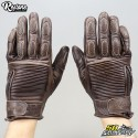 Restone gloves homologated CE motorcycle brown size L