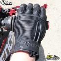 Guantes Restone homologados CE motocicleta negro talla M