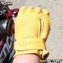 Gants Restone homologués CE moto jaune taille S