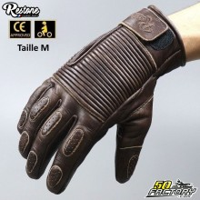 Restone gloves homologated CE motorcycle brown size M
