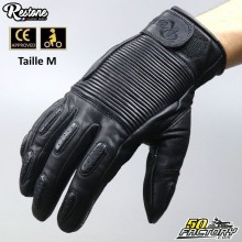 Restone gloves homologated CE motorcycle black size M