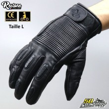 Restone gloves homologated CE motorcycle black size L