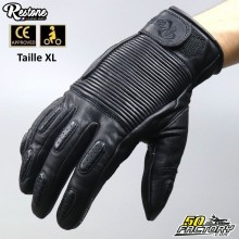 Restone gloves homologated CE motorcycle black size XL