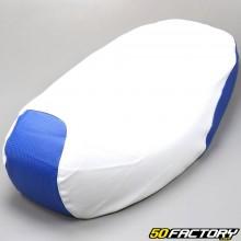 Coprisedile bianco e blu Mbk Booster,  Yamaha BWS (da 2004)