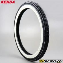 2 1 / 4-17 Tire Kenda K252 TT white sides moped