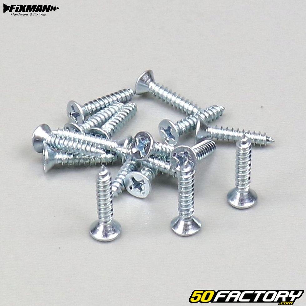 Fixman Sortiment selbstschneidende Schrauben 160 Stück silber NEU