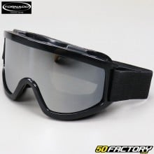 Goggles cross MX Tornado silver screen