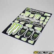 Planche de stickers Monster Energy Drink