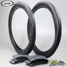 2 1 / 4 17 tires Awina F872 with inner tubes moped