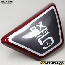 Carenado derecho bajo asiento Brixton BX 125 burdeos