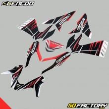 Kit de decoracion Gencod MBK Nitro  et  Yamaha Aerox (de 2013) rojo