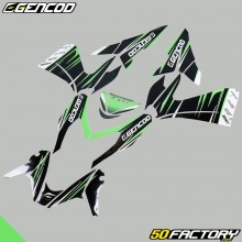 Kit de decoracion Gencod MBK Nitro  et  Yamaha Aerox (desde 2013) verde