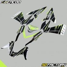 Kit de decoracion Gencod MBK Nitro  et  Yamaha Aerox (de 2013) verde neón
