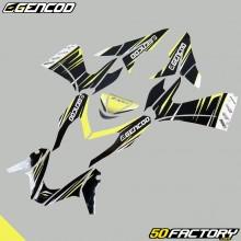 Kit de decoracion Gencod MBK Nitro  et  Yamaha Aerox (desde 2013) amarillo