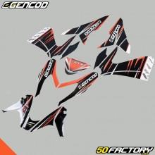 Kit de decoracion Gencod MBK Nitro  et  Yamaha Aerox (de 2013) naranja